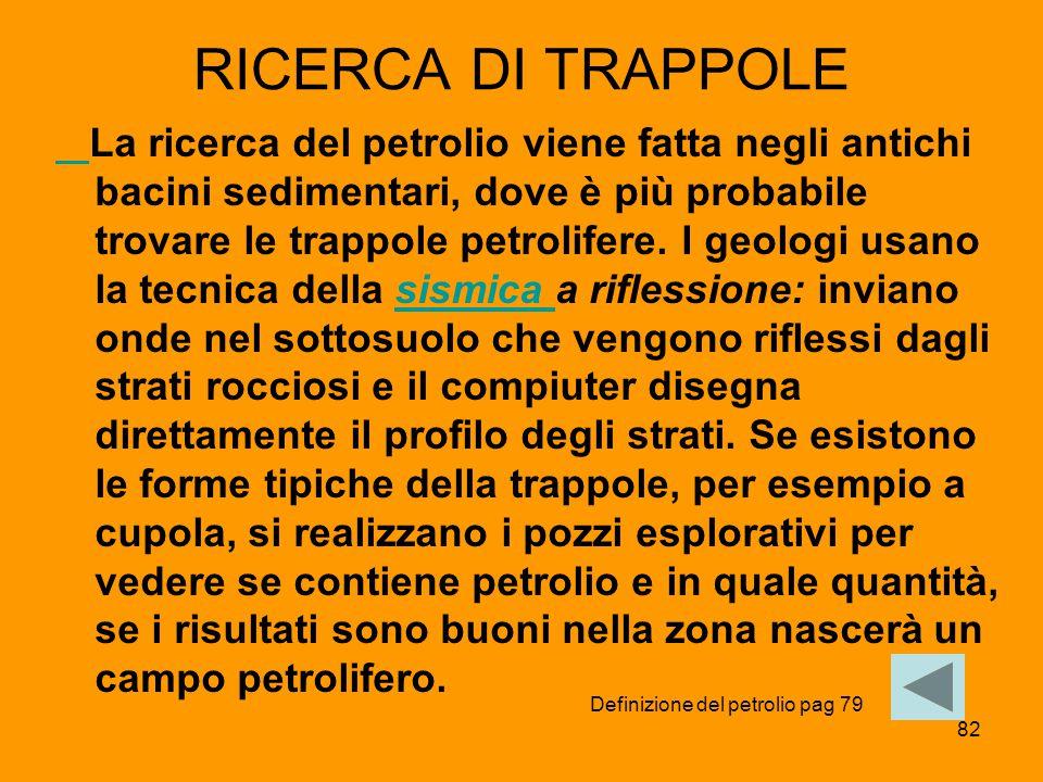 RICERCA DI TRAPPOLE