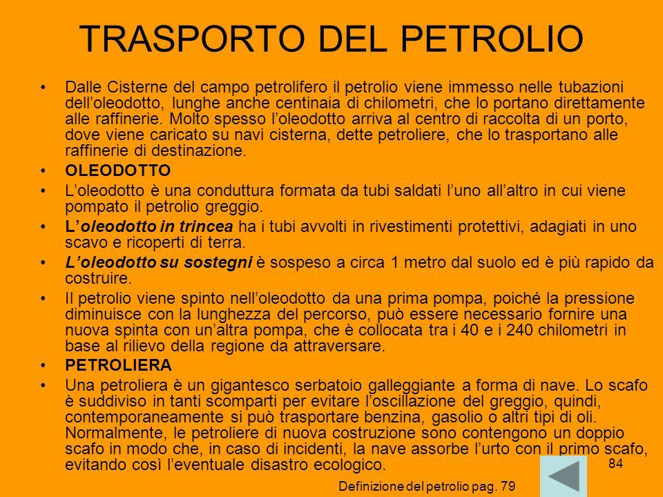 TRASPORTO DEL PETROLIO
