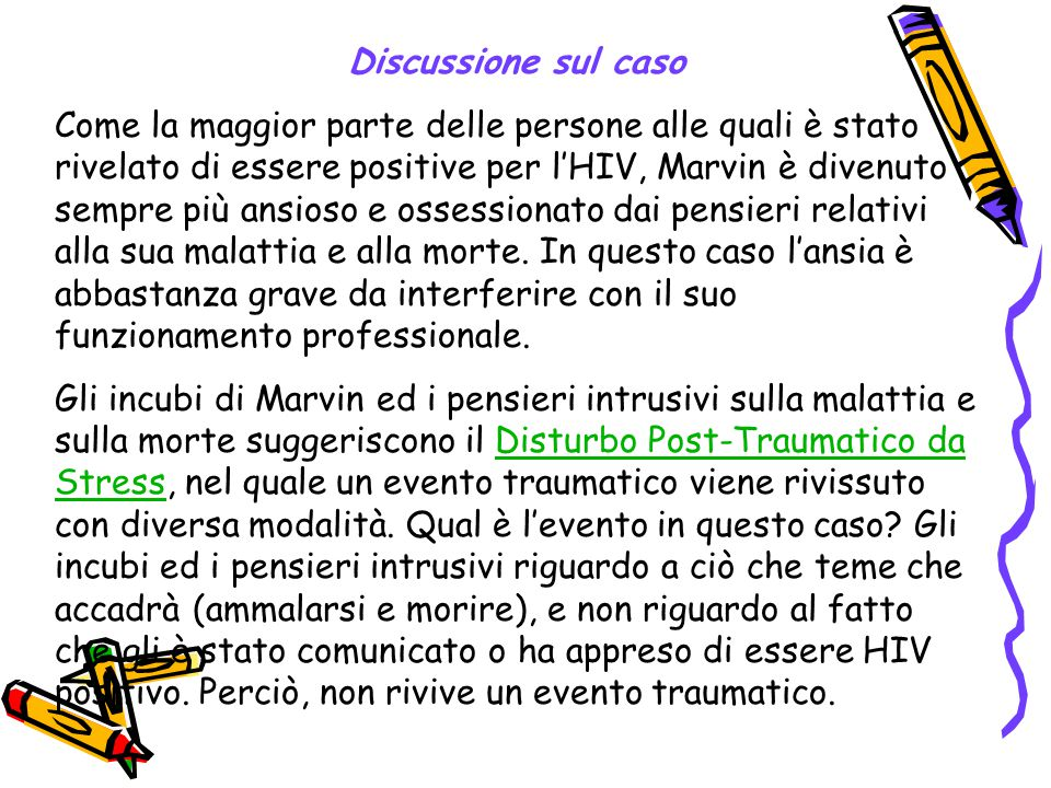 Discussione sul caso