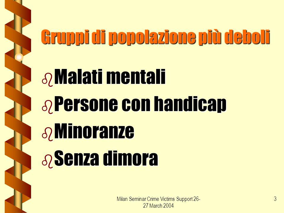 Gruppi di popolazione più deboli