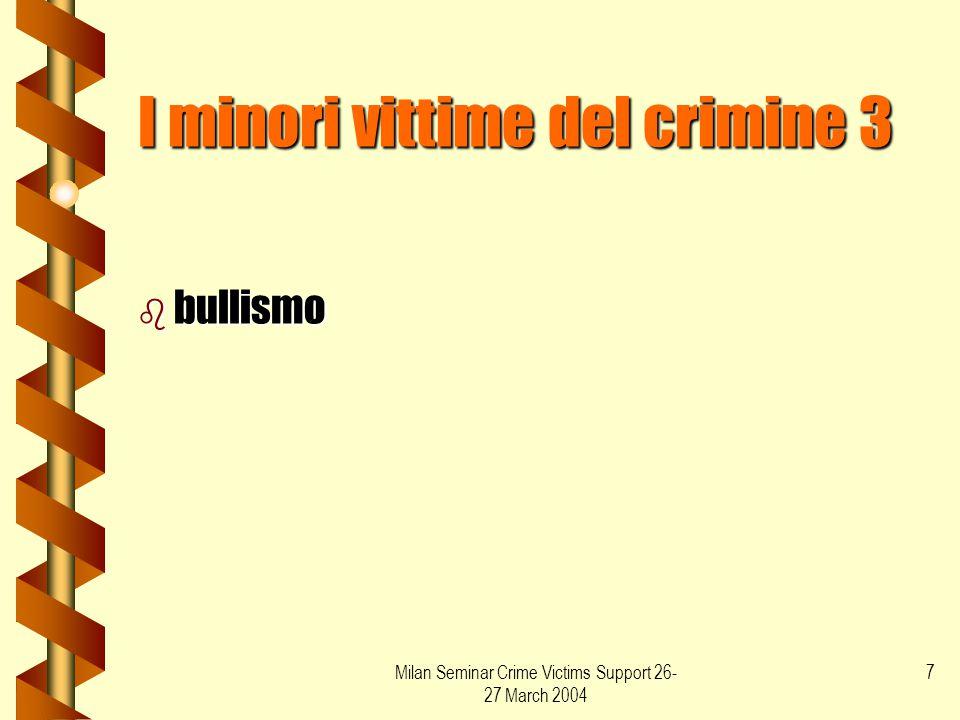 I minori vittime del crimine 3