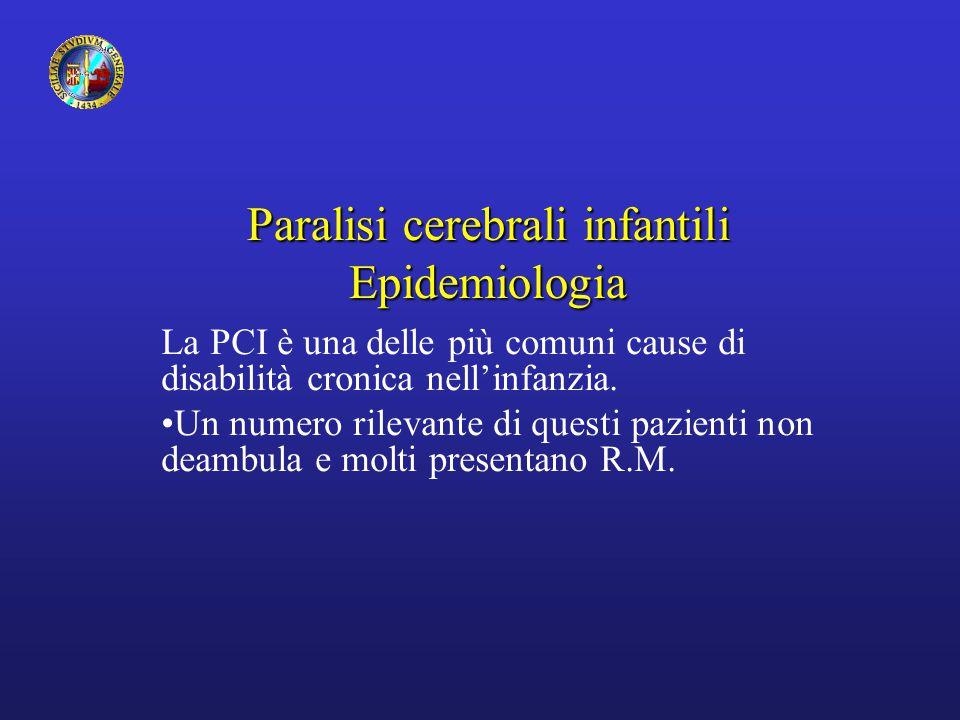 Paralisi cerebrali infantili Epidemiologia