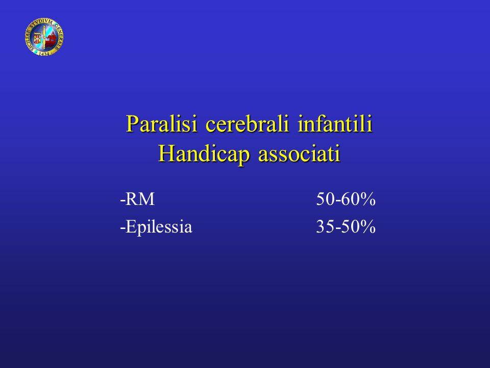 Paralisi cerebrali infantili Handicap associati