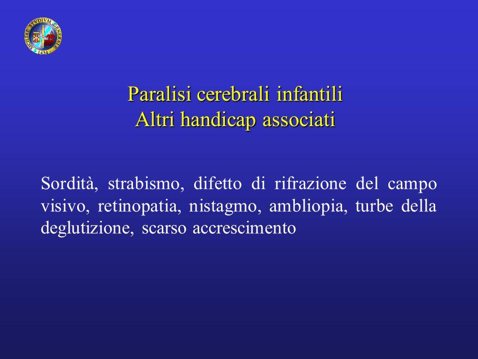 Paralisi cerebrali infantili Altri handicap associati