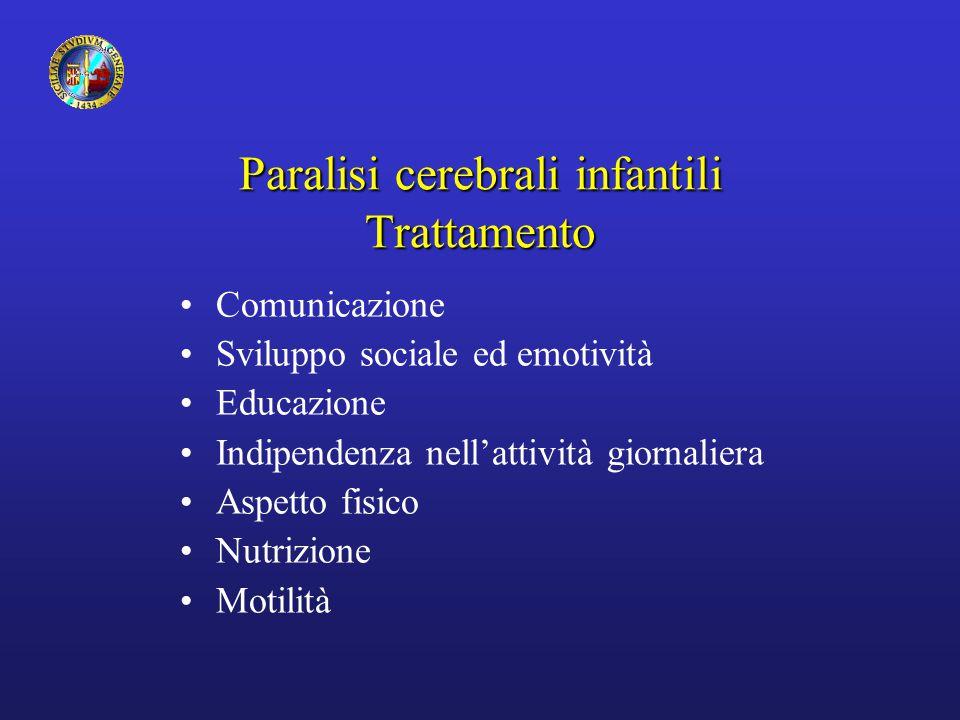 Paralisi cerebrali infantili Trattamento
