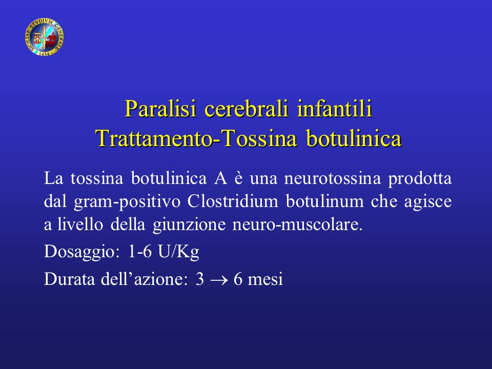 Paralisi cerebrali infantili Trattamento-Tossina botulinica