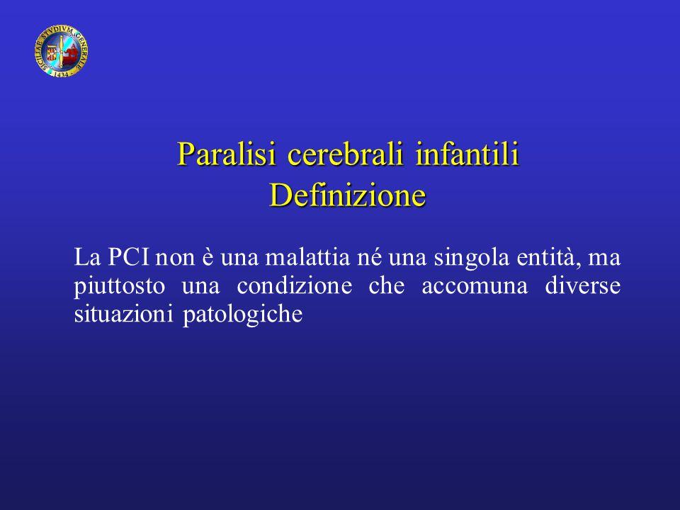 Paralisi cerebrali infantili Definizione
