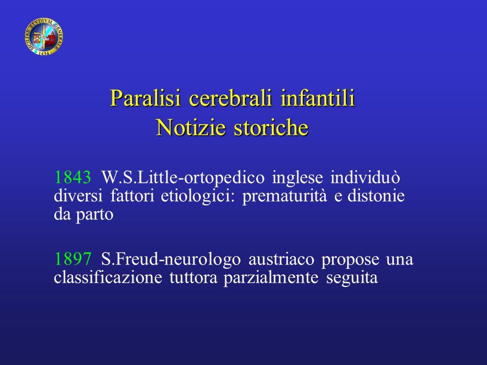 Paralisi cerebrali infantili Notizie storiche