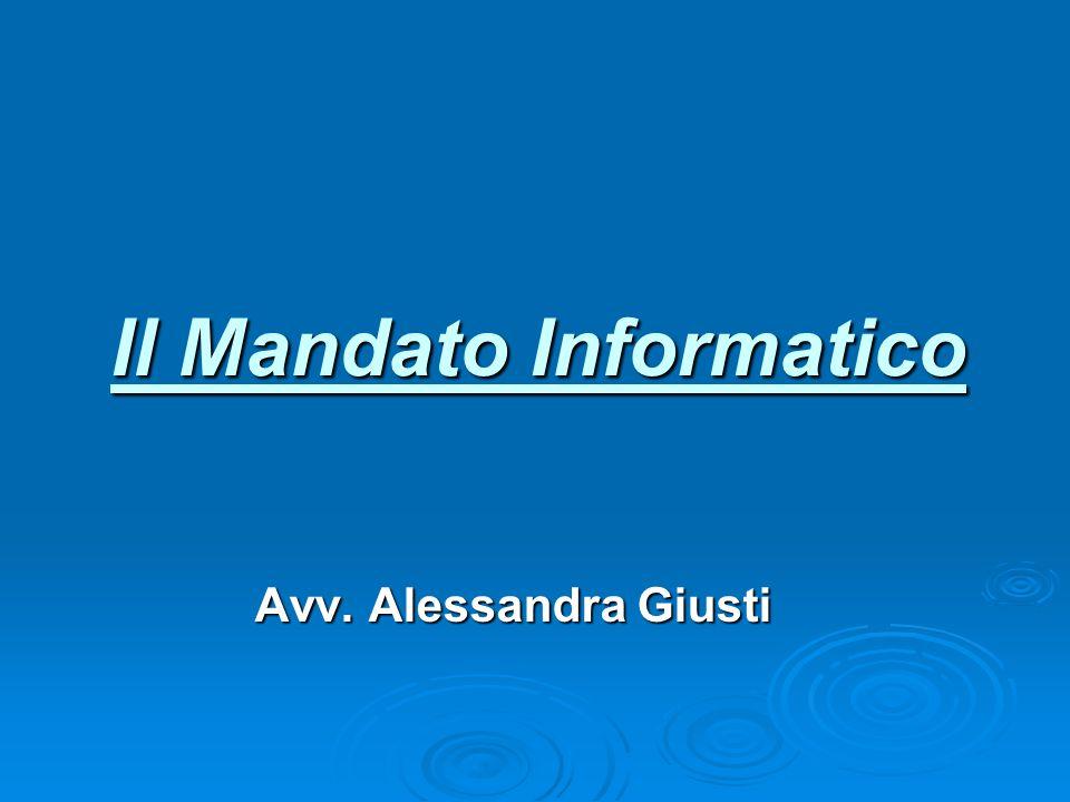 Il Mandato Informatico