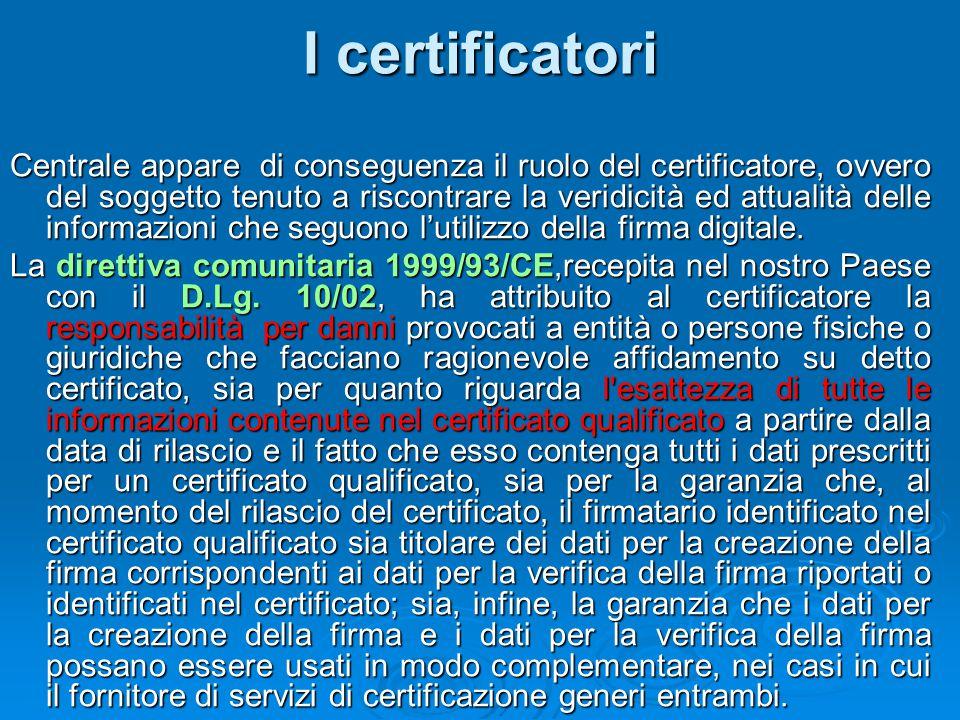 I certificatori