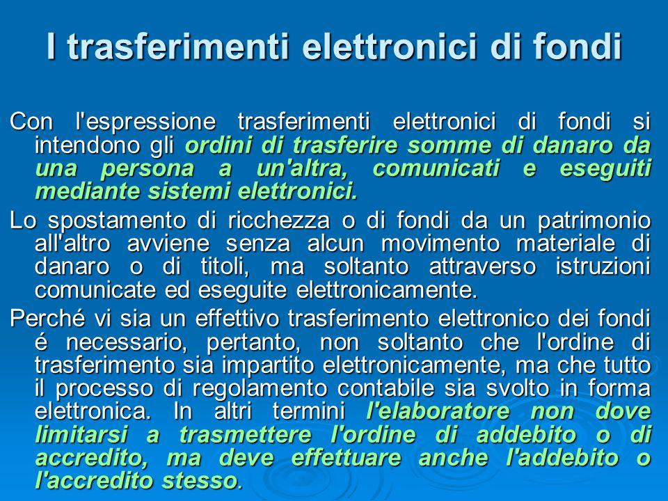 I trasferimenti elettronici di fondi