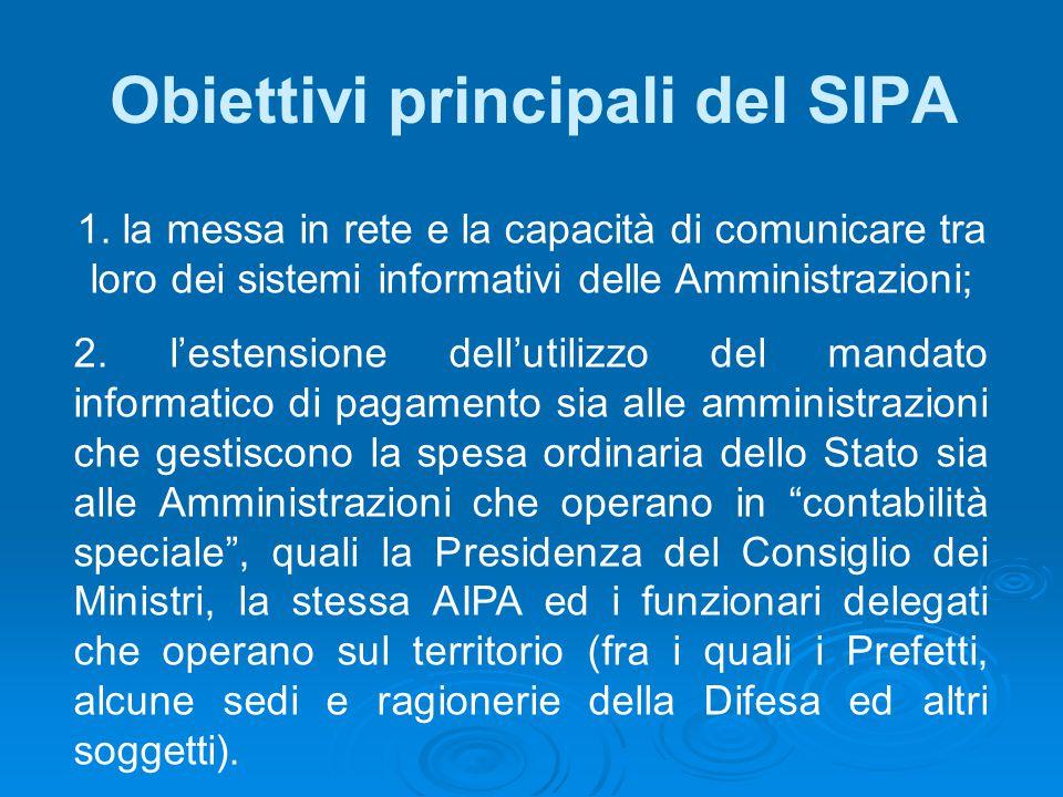 Obiettivi principali del SIPA