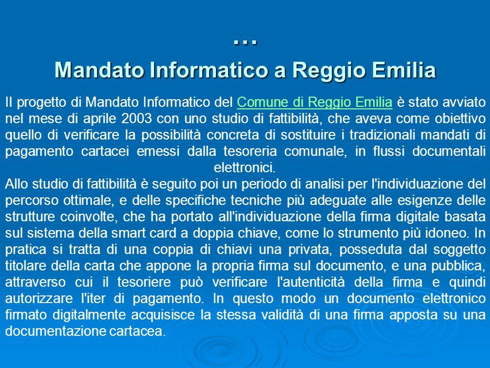 Mandato Informatico a Reggio Emilia