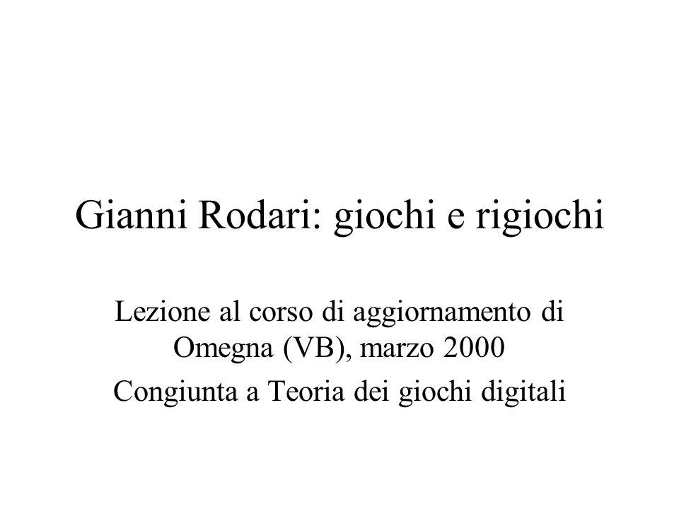 Gianni Rodari: giochi e rigiochi