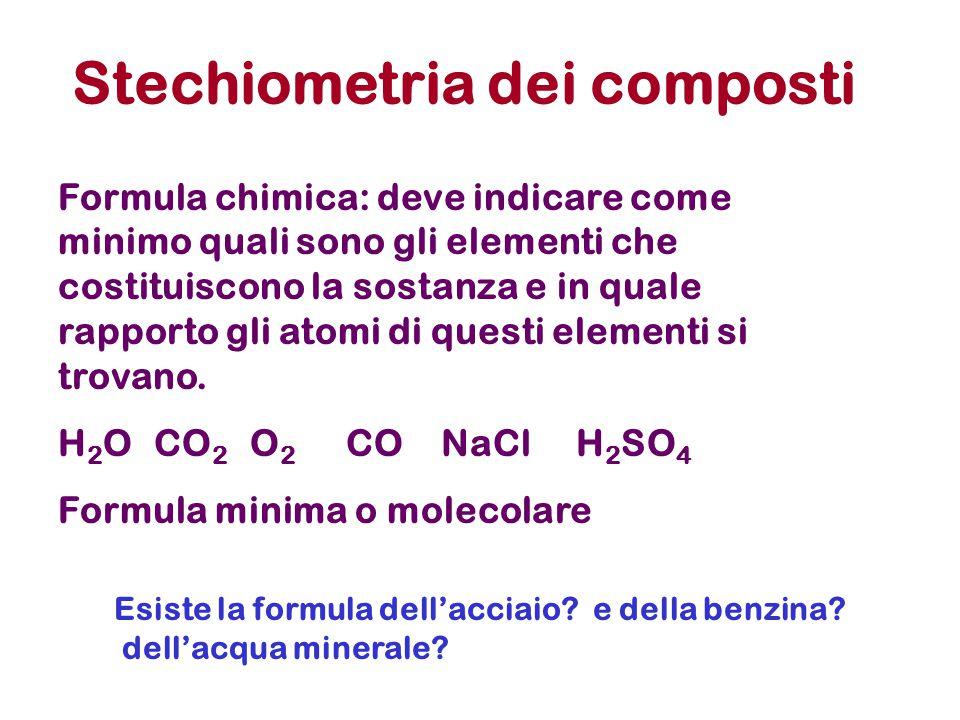 Stechiometria dei composti