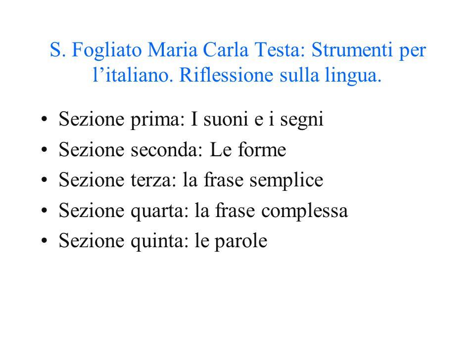 S. Fogliato Maria Carla Testa: Strumenti per l'italiano
