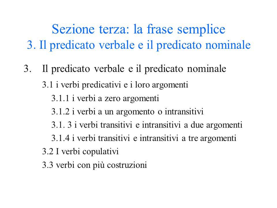 Sezione terza: la frase semplice 3