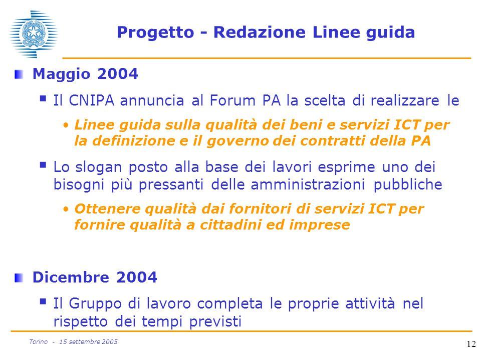Progetto - Redazione Linee guida