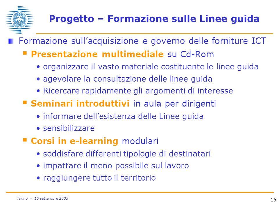 Progetto – Formazione sulle Linee guida