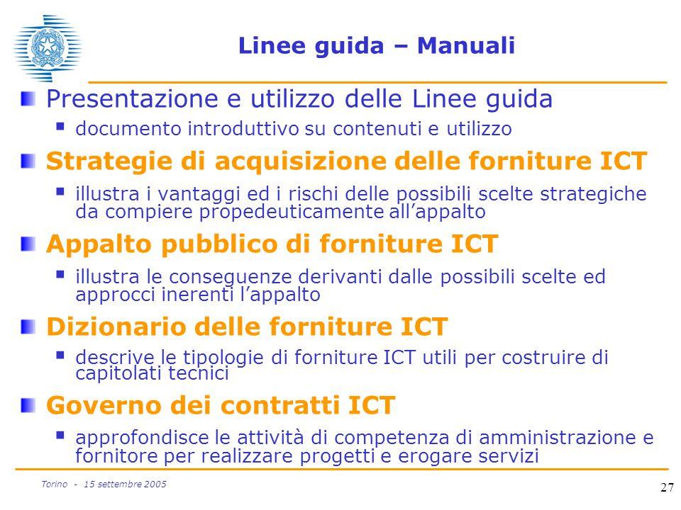 Presentazione e utilizzo delle Linee guida