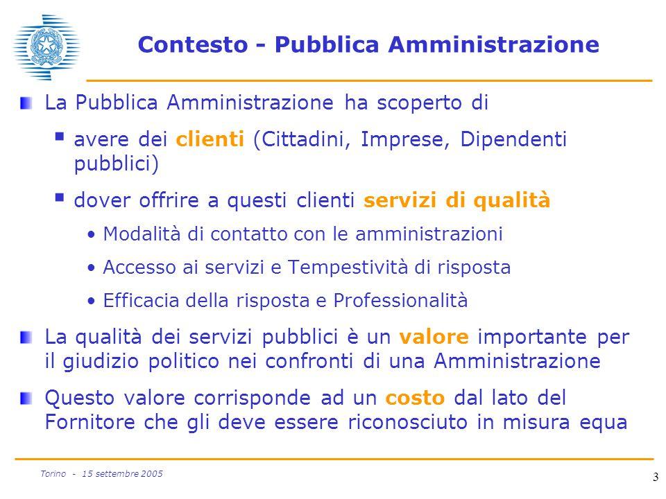 Contesto - Pubblica Amministrazione