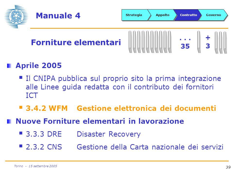 Manuale 4 Forniture elementari Aprile 2005
