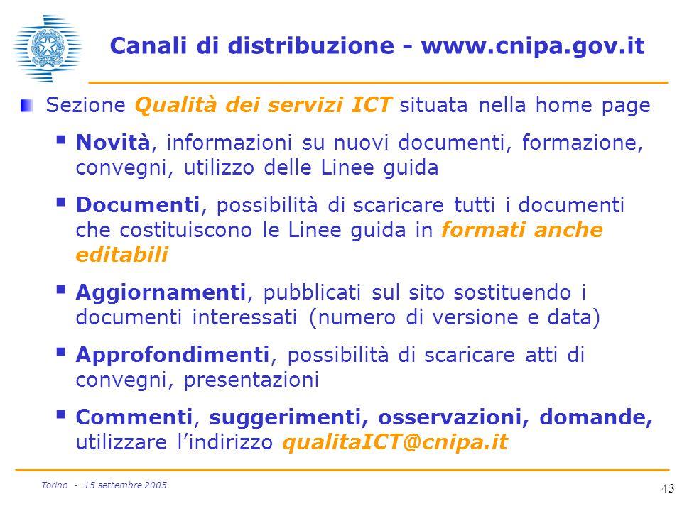 Canali di distribuzione - www.cnipa.gov.it
