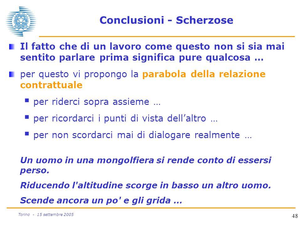 Conclusioni - Scherzose
