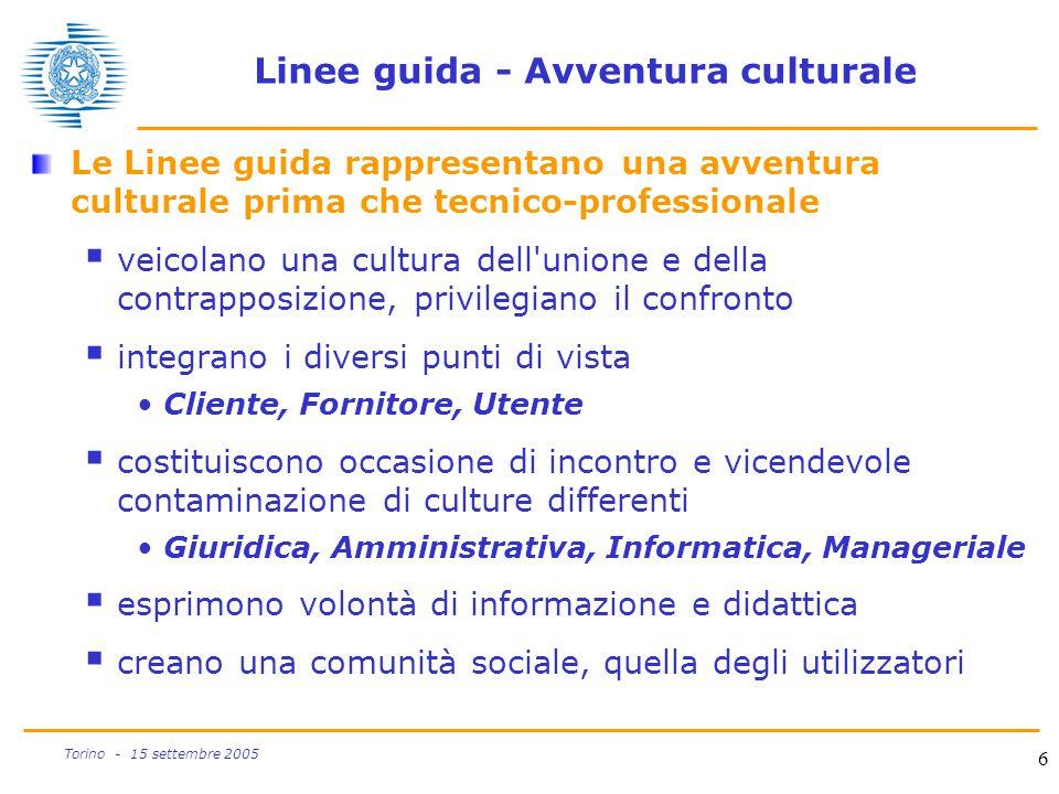 Linee guida - Avventura culturale