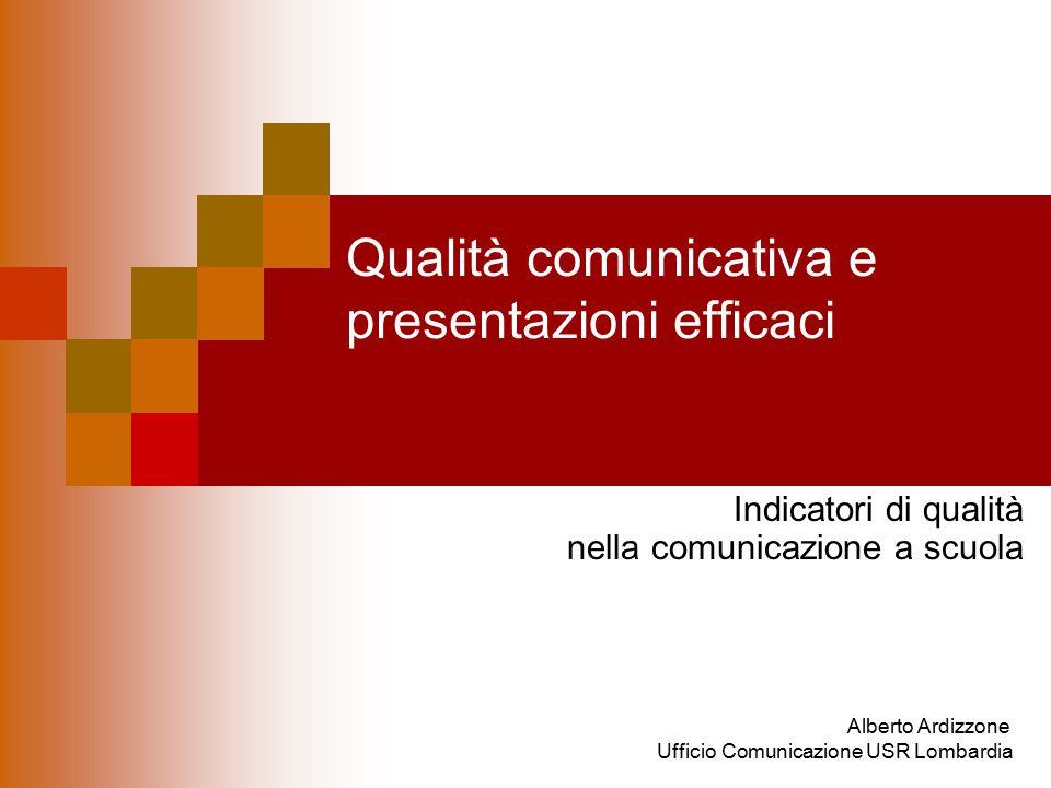 Qualità comunicativa e presentazioni efficaci