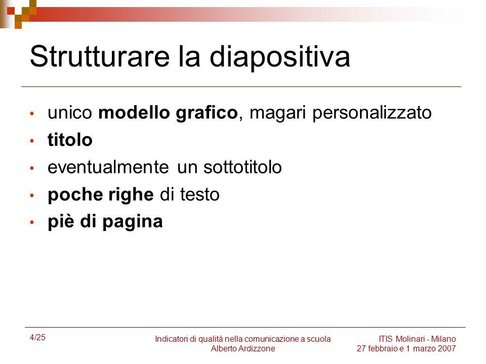 Strutturare la diapositiva