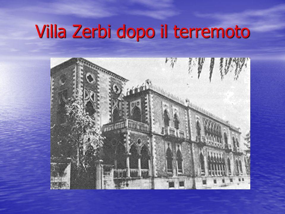 Villa Zerbi dopo il terremoto
