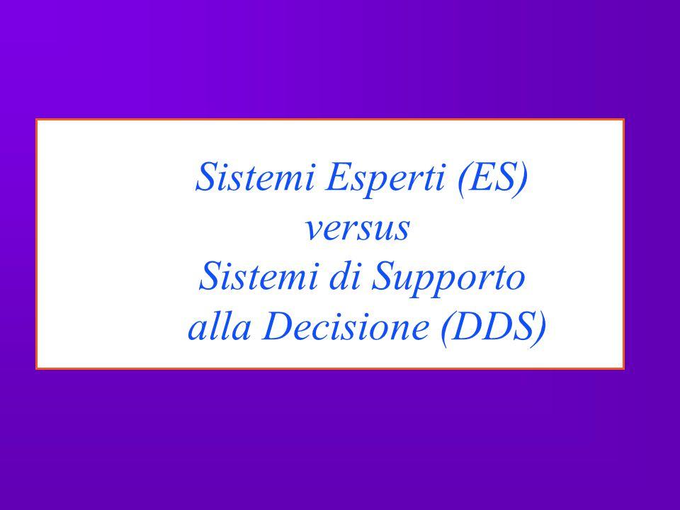 Sistemi Esperti (ES) versus Sistemi di Supporto alla Decisione (DDS)