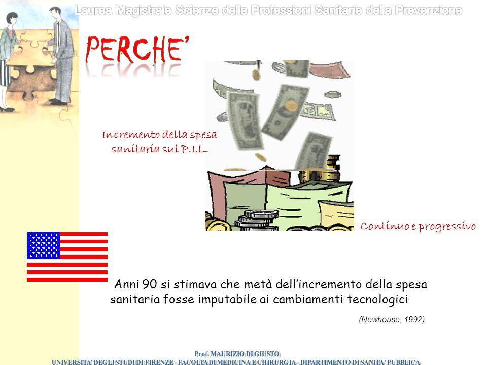 Incremento della spesa sanitaria sul P.I.L. Prof. MAURIZIO DI GIUSTO