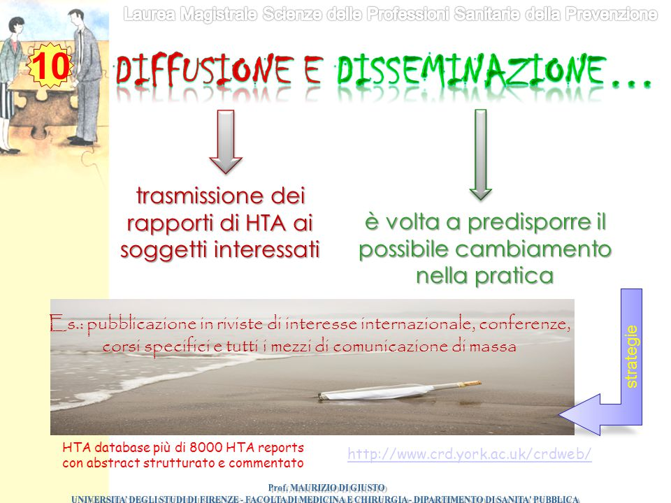 Diffusione e disseminazione… Prof. MAURIZIO DI GIUSTO