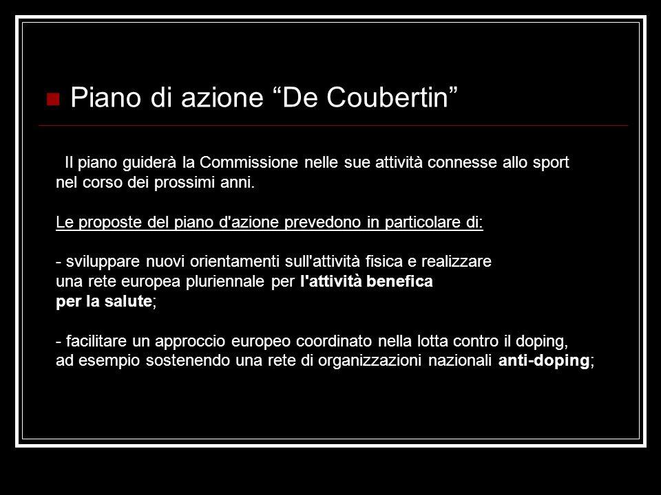 Piano di azione De Coubertin