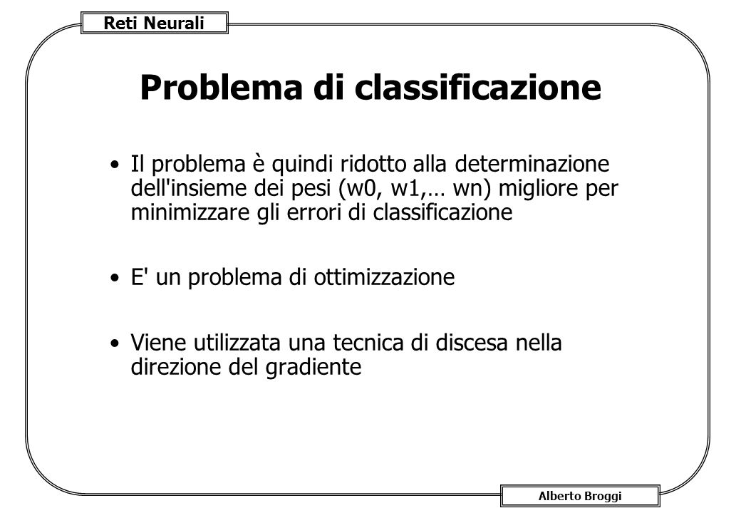 Problema di classificazione