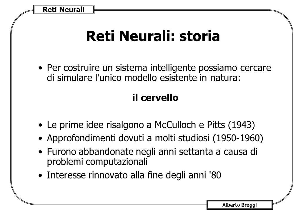 Reti Neurali: storia