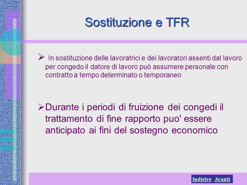 Sostituzione e TFR