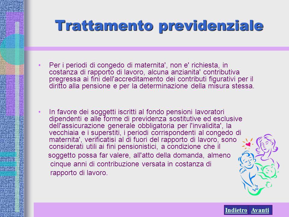 Trattamento previdenziale
