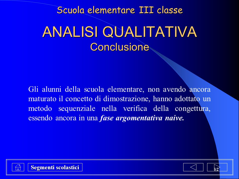 ANALISI QUALITATIVA Conclusione