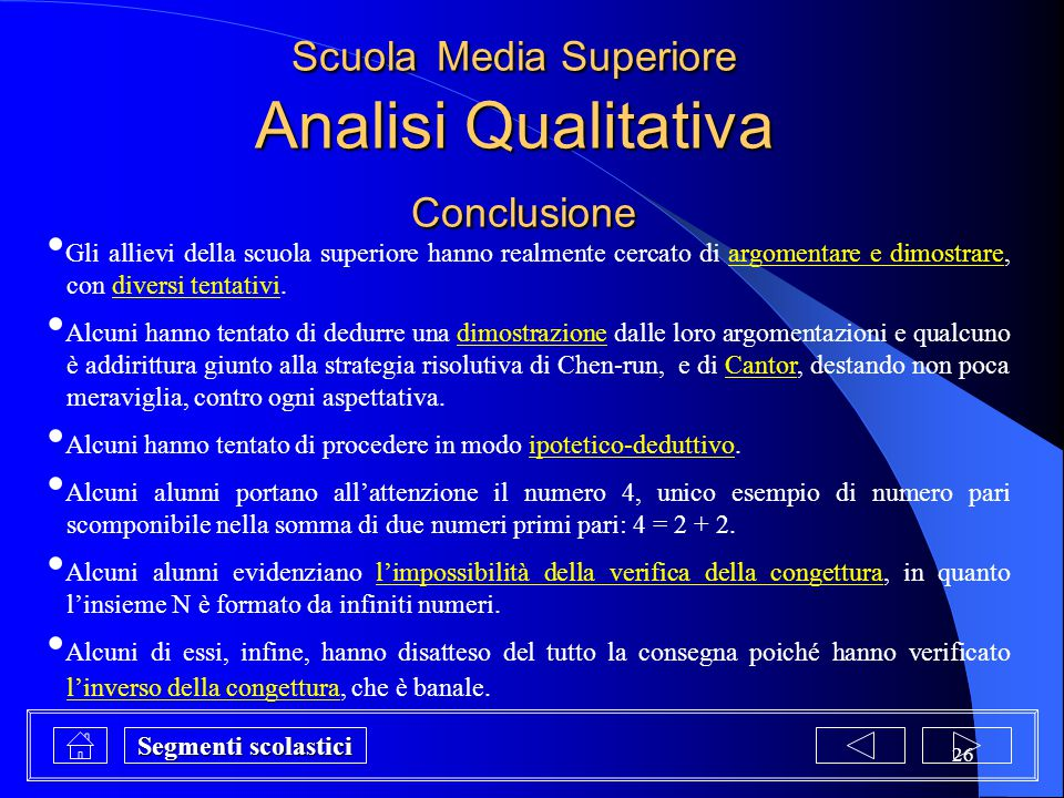 Scuola Media Superiore Analisi Qualitativa Conclusione