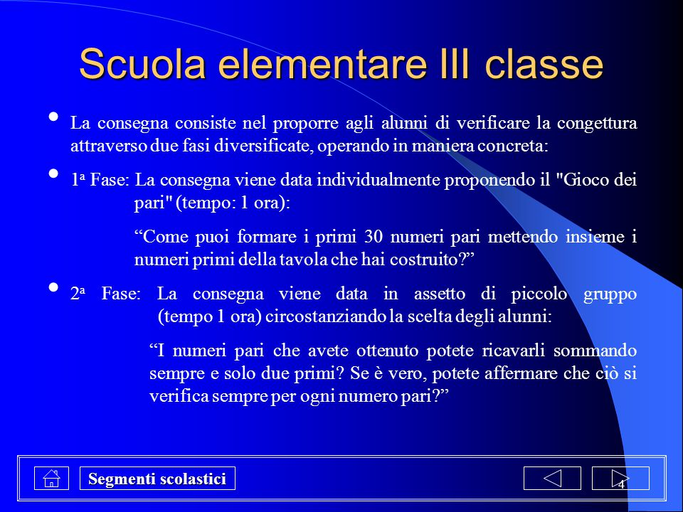 Scuola elementare III classe