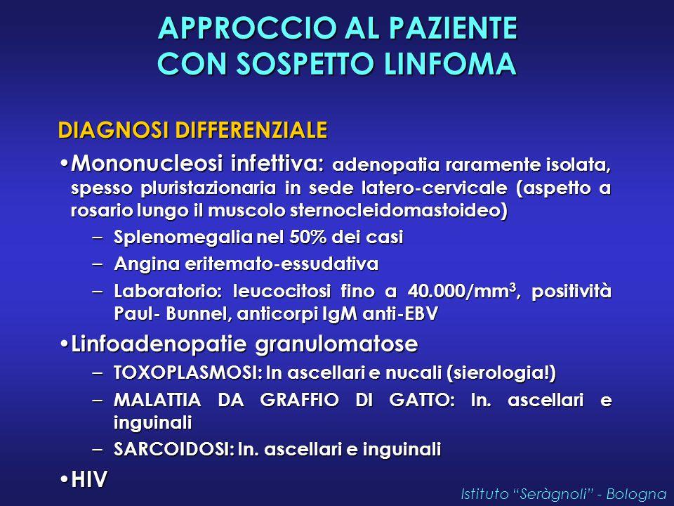 APPROCCIO AL PAZIENTE CON SOSPETTO LINFOMA