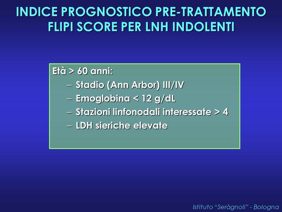 INDICE PROGNOSTICO PRE-TRATTAMENTO FLIPI SCORE PER LNH INDOLENTI