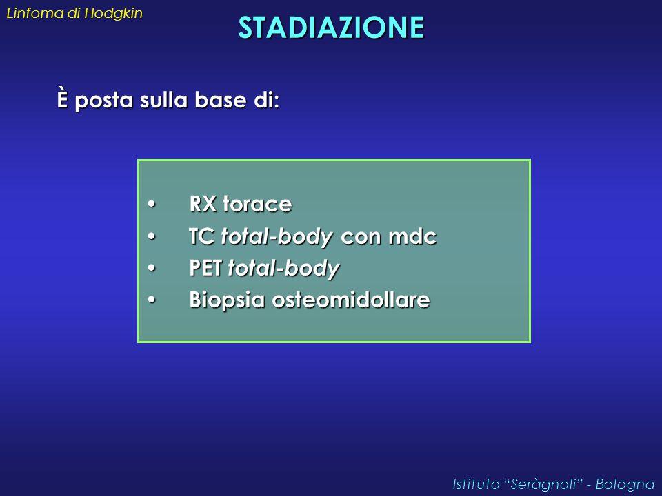 STADIAZIONE È posta sulla base di: RX torace TC total-body con mdc
