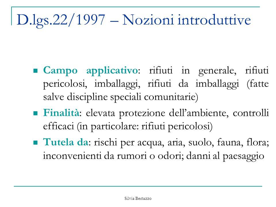 D.lgs.22/1997 – Nozioni introduttive
