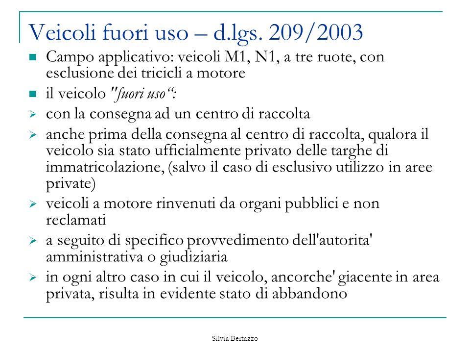 Veicoli fuori uso – d.lgs. 209/2003