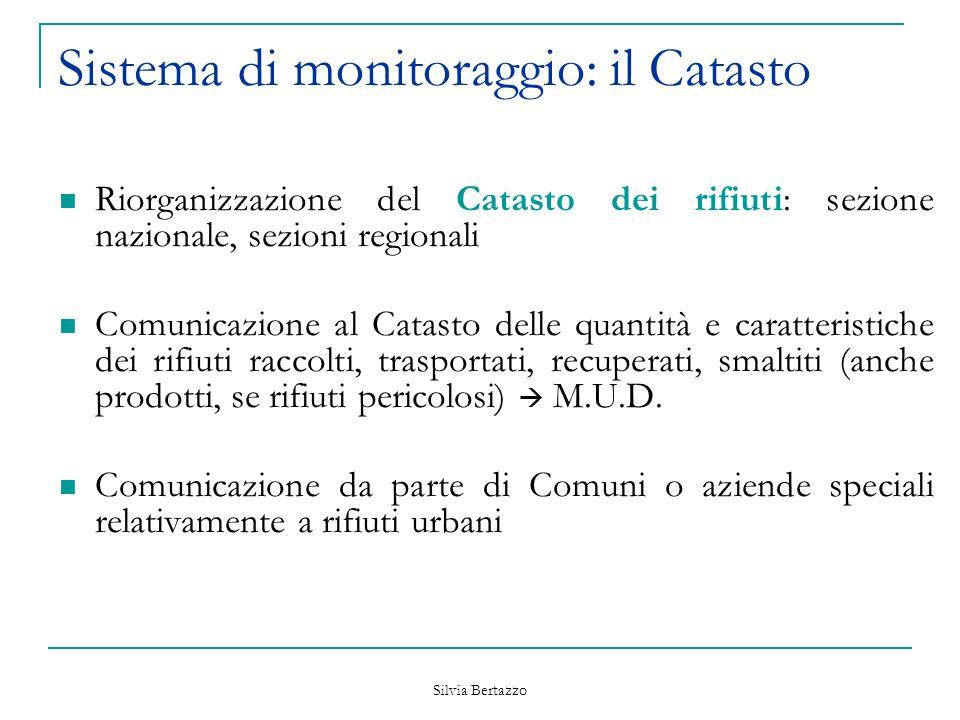 Sistema di monitoraggio: il Catasto