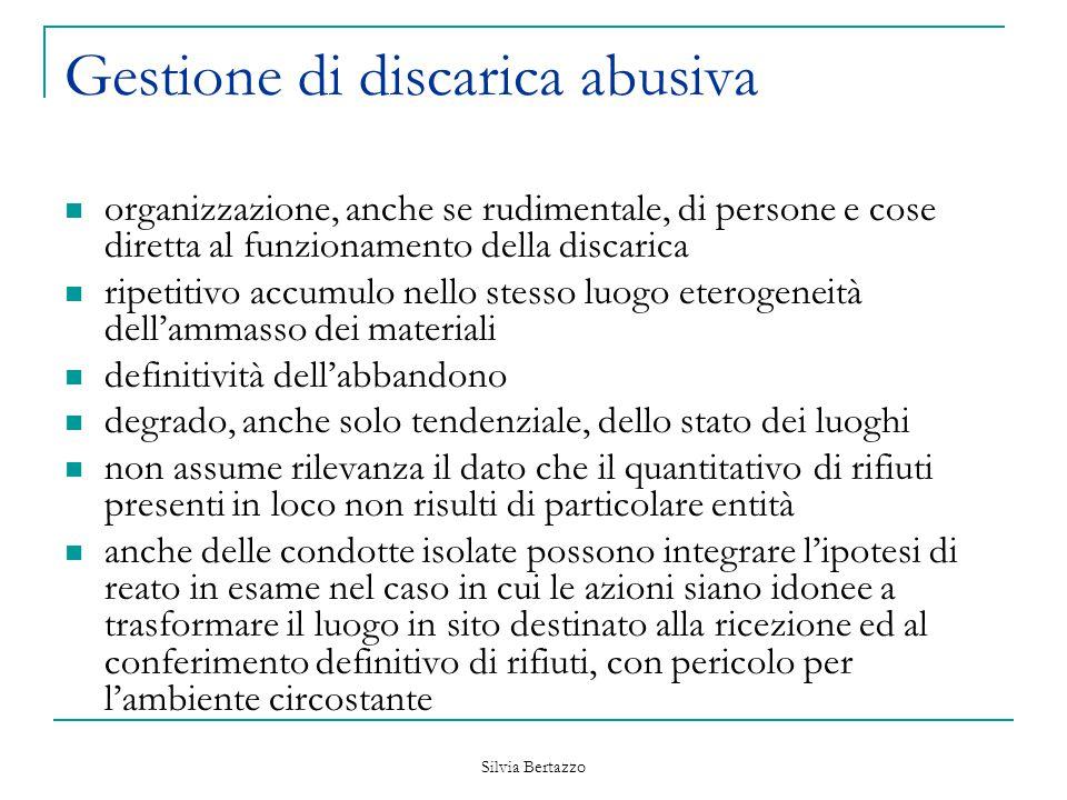 Gestione di discarica abusiva